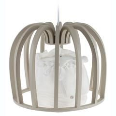 WOODEN CEILING LAMP IN NATURAL COLOR 35X26/95