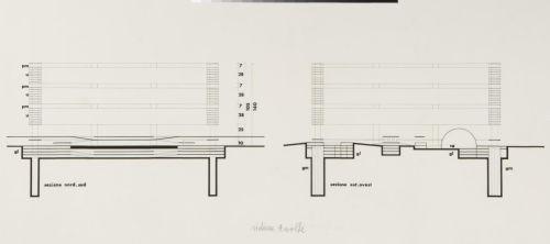 Aldo Rossi- Locomotiva 2 Section, Turin, 1962