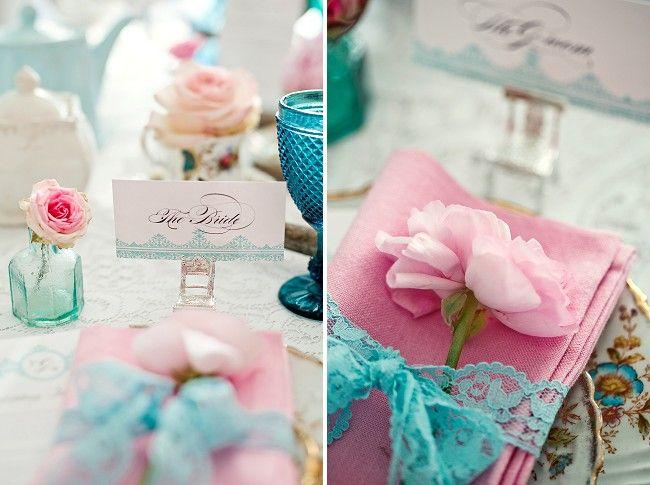 Ideias para casamento e festa: Decoração casamento rosa e azul