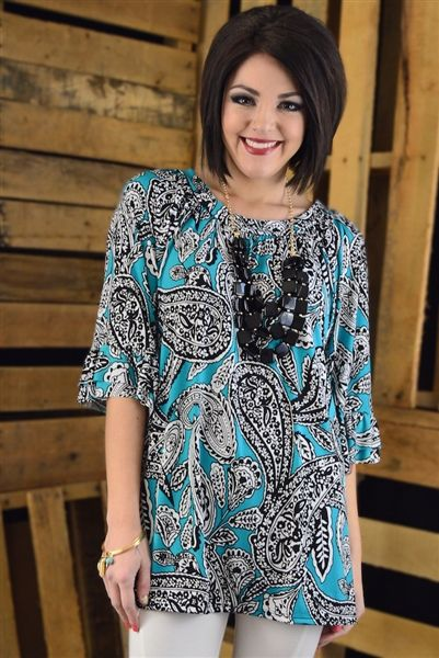 Pacific Ruffle Tunic from The Zig Zag Stripe #affordable #boutique - Use code ZZS9 for free shipping!