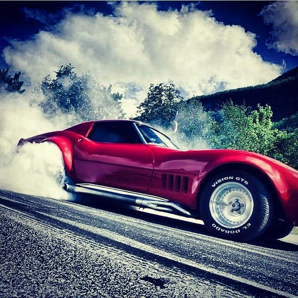 C3 Corvette Burning Rubber