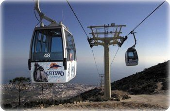 car cable ride from Benalmadena Costa to the summit of Mt. Calamorro offering spectacular views of the Costa del Sol @Hostaltiomateo #marbella