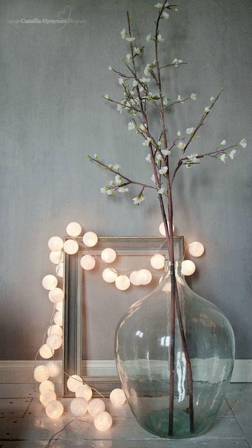 Decoratie met kerstverlichting: ballenslinger