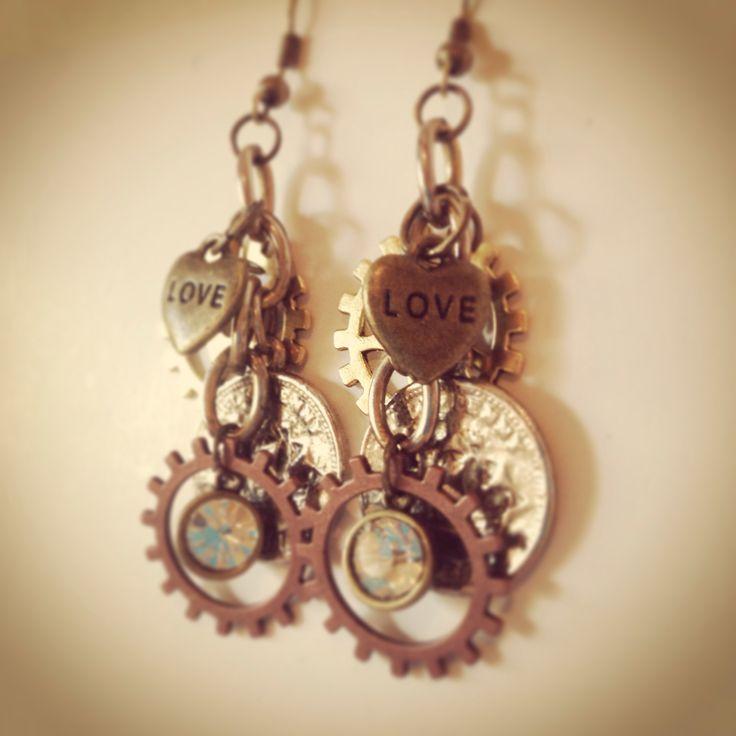 Steampunk inspired earrings