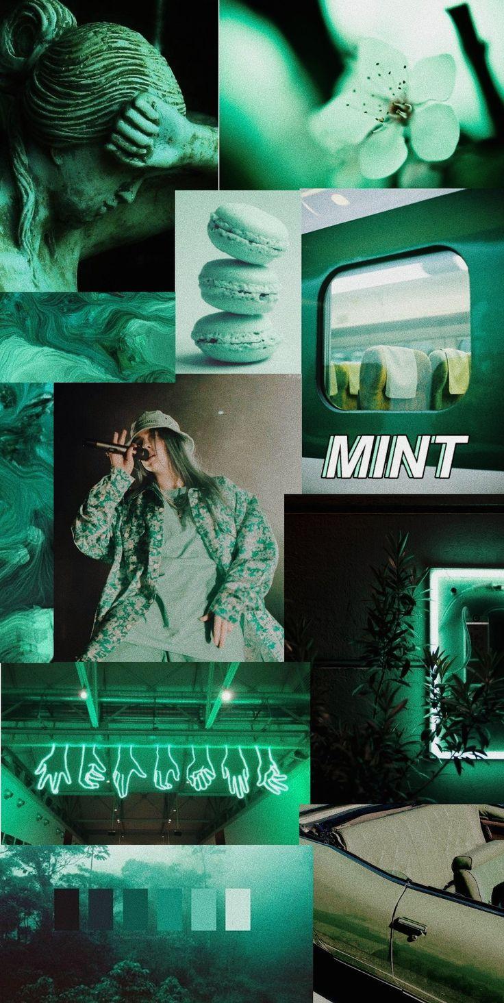 Dark mint color aesthetic wallpaper Colors Dark green