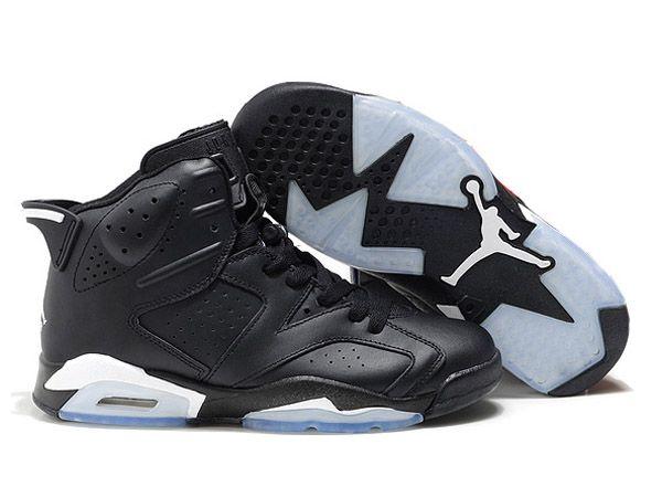 Retro Homme Air Jordan 6 Noir/Blanc