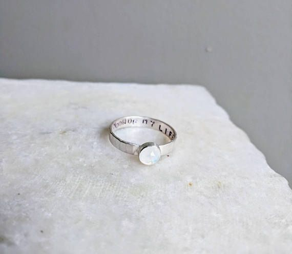 Moon of My Life Ring. Moonstone Ring, Customizable. Game of Thrones Ring. Geek Wedding Ring. Sterling Silver. Daenerys Targaryen