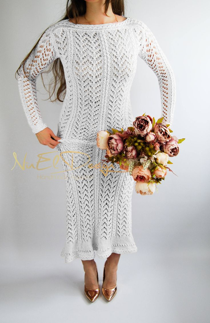 UNIQUE Knit Boho Dress.Long sleeved knit dress. Crochet maxi dress. Crochet long sleeve dress. Long crochet dress. Long knit dress. Bohemian by NinElDesign on Etsy
