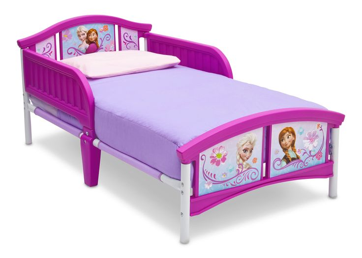 From Delta Children A Cool Bed Fit For Snow Queen This Frozen Plastic Toddler