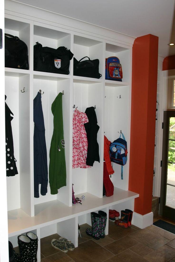 The Powerful Ideas Of Wooden Mudroom Locker : Modern White Wooden Mudroom Locker  Furniture On Ceramic