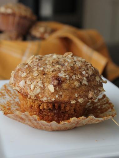 Pumpkin Cinnamon Streusel Muffins « Baking with Basil