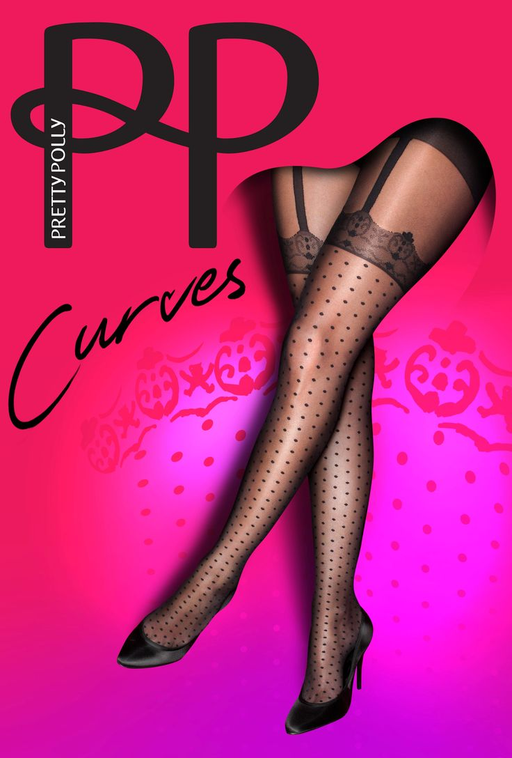 Pretty Polly Curves Spot Lace Suspender Tights!! By www.sexychic.nl