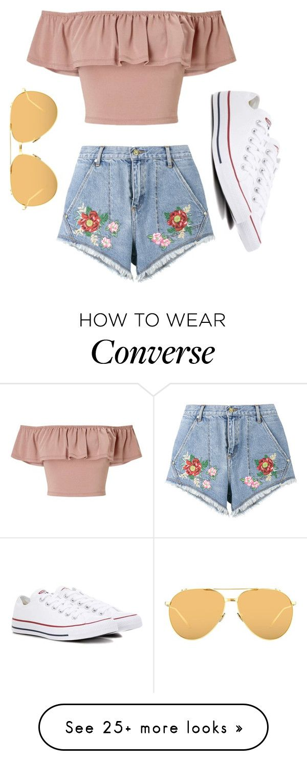 """""""Summer Babe"""" by hippy-grandma on Polyvore featuring Miss Selfridge, House of Holland, Converse and Linda Farrow"""