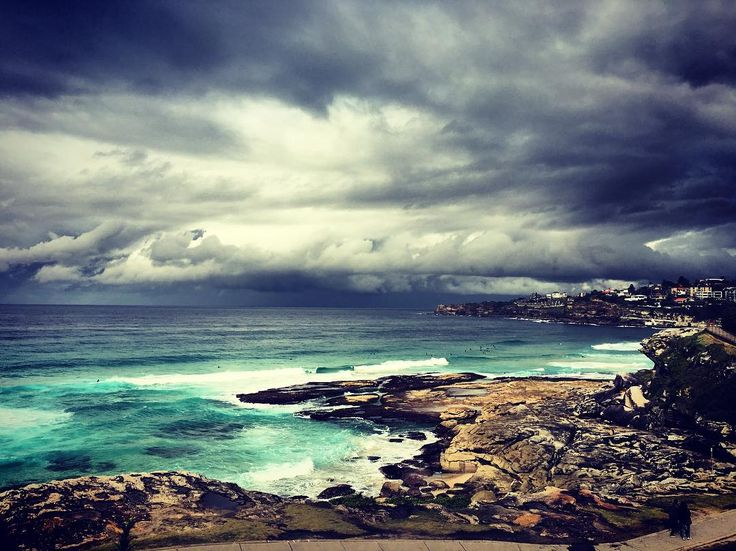 (Loc) Posted on June 01 2016 at 11:14AM by rodoako: I only come to work to take photos .. Part time council worker part time iPhone photographer  . #bondi #beach #tamarama #tamaramabeach #tamaramagully #bonditobronte #clouds #winter #sydney #wintercolours #mothernature #work