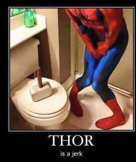 THOR! Your hammer is at the toilet seat!