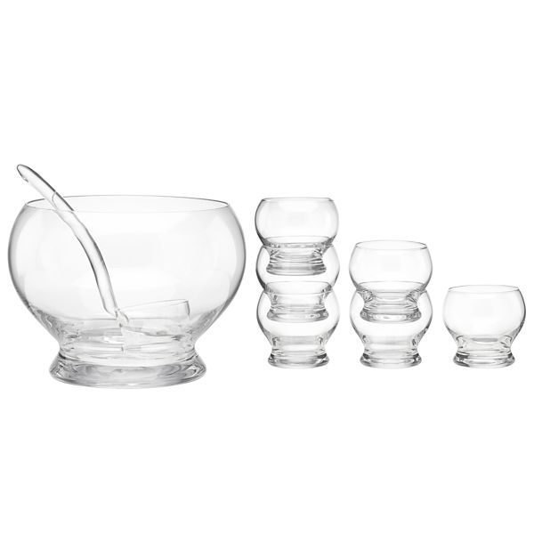 Contemporary 8-piece Punch Bowl Set by Lenox