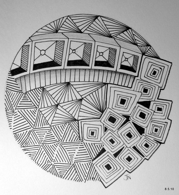 #Zentangle by Jo in NZ | Art & Such | Pinterest | Doodles, Drawings and Doodle art