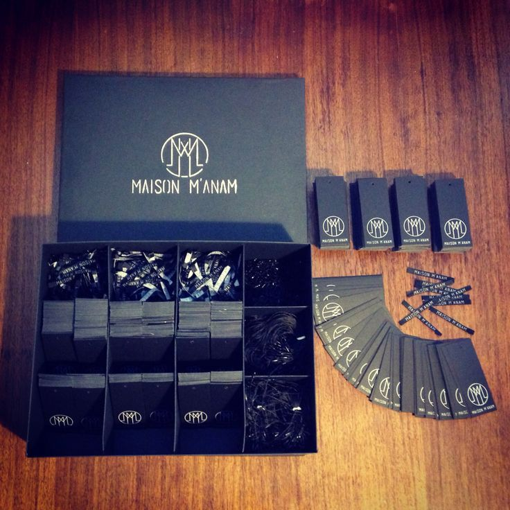 Clothing labels and tags for new contemporary fashion brand based in Rome, Maison M'anam