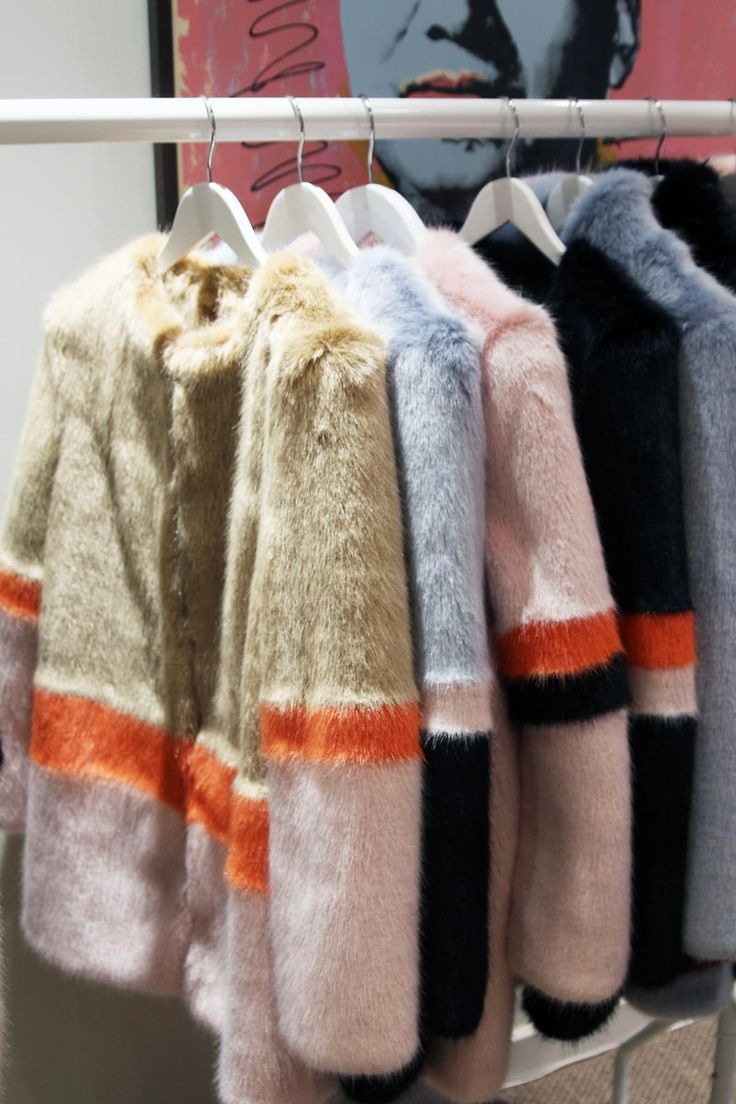 so playful. faux fur coats by Shrimps