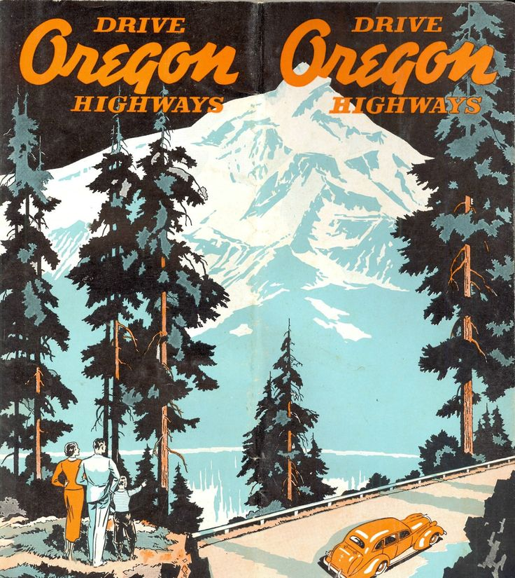 oregon vintage poster love these old