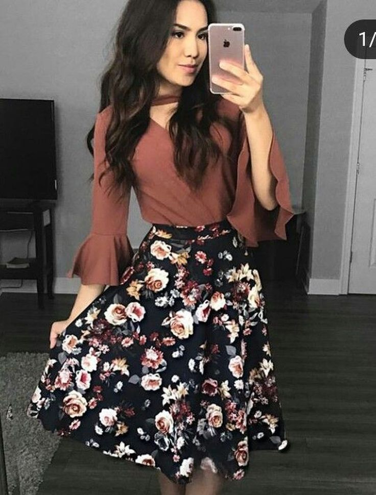 44 Captivating Floral Skirt Outfit Ideas – fashion & accessories