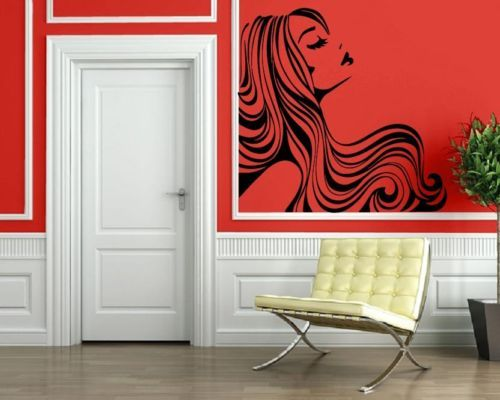 188 best salon spaces to die for images on pinterest salon design salon i - Decoration mural salon ...