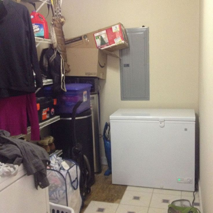 Hometalk :: How to organize/decorate a very long and narrow laundry room??