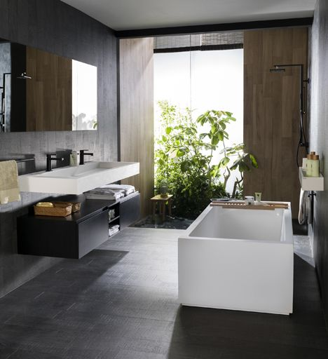 Clean pure designs thanks to krion solid surface for new for Porcelanosa sinks