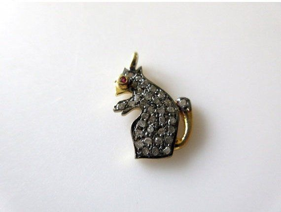 Sterling Silver Antiqued Squirrel Charm Pendant