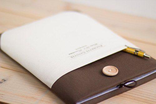 ノートパソコンケース Macbookカバー PCケース / ブラウン& クリームポケット