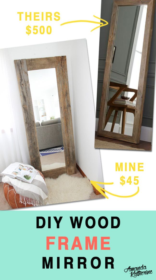 I love full length mirrors because they help fill awkward corners and nooks, but they also make small spaces feel bigger. Buying a mirror at a store will set you back hundreds of dollars, but I made my own for just a fraction of the cost. Click now for the full tutorial!
