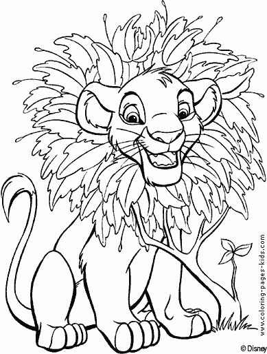 The Lion King Color Page Disney Coloring Pages Plate Sheet