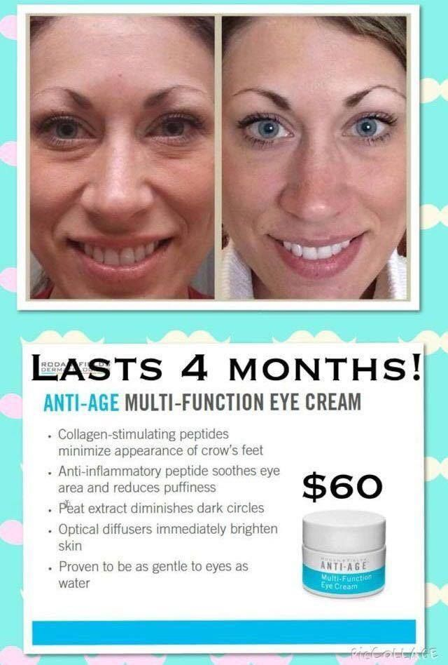 """My results were comparable to these! I tell customers all the time--if my house were on FIRE, and I had time to grab only ONE of my skincare or beauty products, THIS is the one I would grab. Works better than any I've ever tried, and I've tried a bunch because I've been using eye cream continuously since I was 16! Thinking about """"trying"""" our products, but not sure which is the """"one"""" to try? This is it!"""