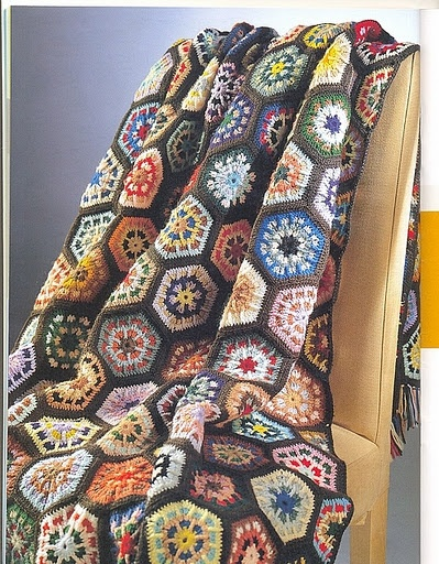I've already made a hexagon quilt, now have to start a hexagon crochet plaid.