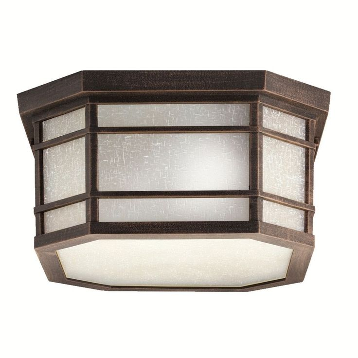 Kichler Lighting Cameron Collection 3-light Prairie Rock Outdoor Flush Mount