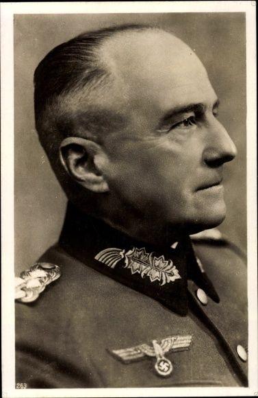 Ansichtskarte / Postkarte Generaloberst Walther von Brauchitsch, Portrait, Wehrmacht, II. WK