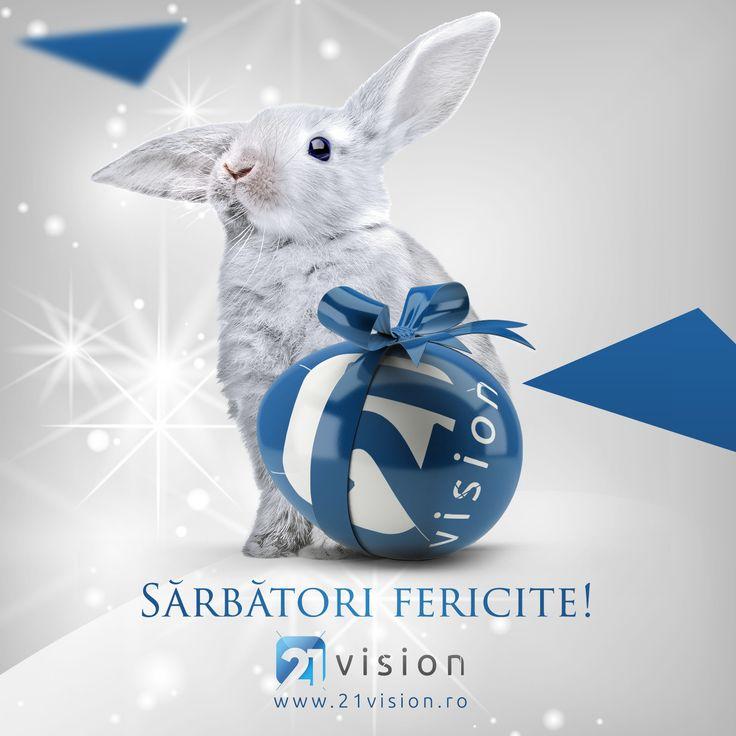 O zi specială, îmbogăţită de aroma bucatelor tradiţionale şi parfumul florilor de primavară! PAȘTE FERICIT! www.21vision.ro - digital marketing agency