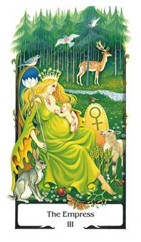 The Empress from the Old Path deck on Tarot.com