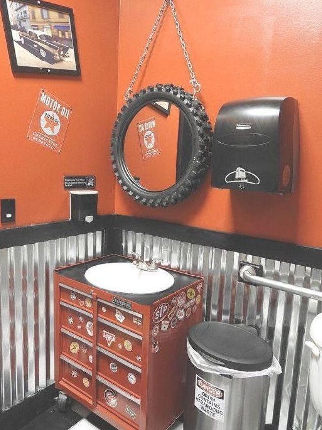 Best Ideas About Garage Bathroom Ideas Save Or Pin Plete Your Garage Living Space With A Functiona Man Cave Bathroom Garage To Living Space Man Cave Home Bar