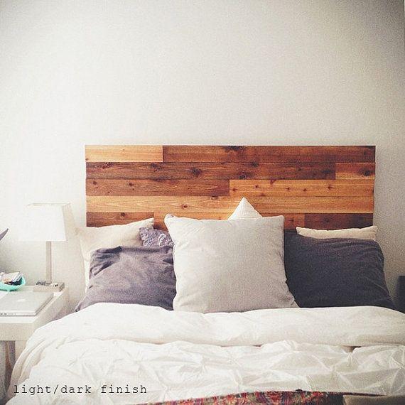 Cedro granero estilo madera cabecero rústico por UrbanBilly
