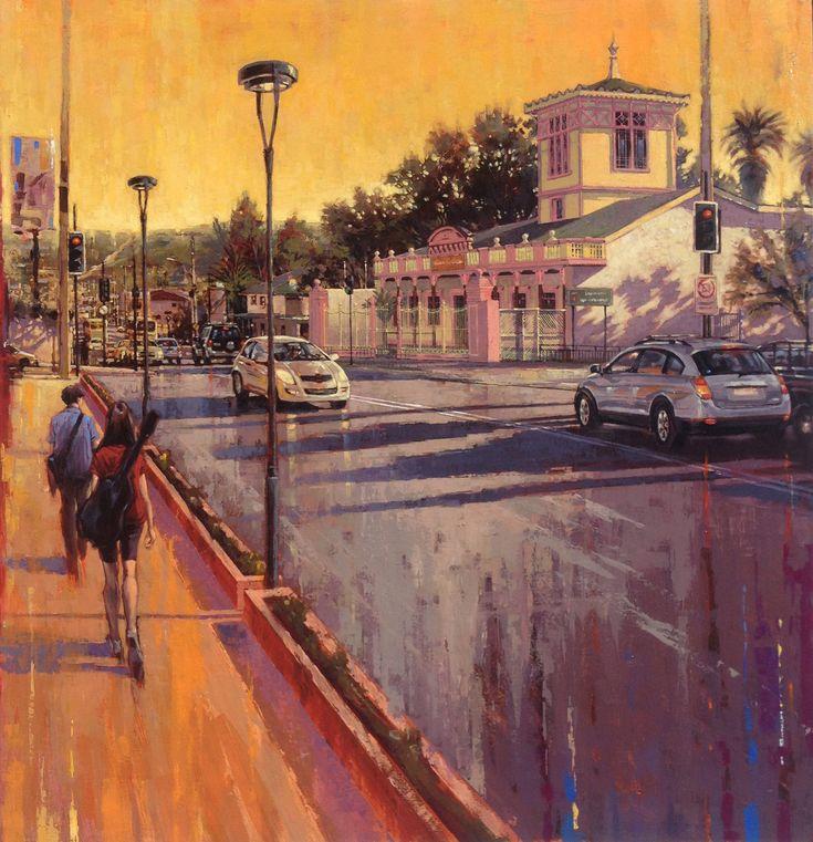 Casa de la Cultura de Limache  Acrílico sobre tela 90 x 100 Art by Edgardo Contreras de la Cruz