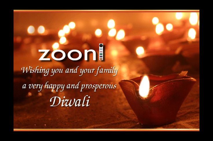 Wish you all a very Happy & Prosperous Diwali... #Festive Greetings #Zooni!