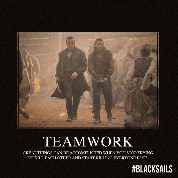 Teamwork! » Captain Flint & Captain Vane! - Black Sails » starz.com