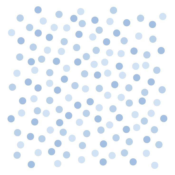 Kinderzimmer Wandsticker Punkte blau 140-teilig