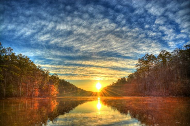 Sunrise on the river. This is a beautiful #sunrise #HDR picture. Feel free to reuse but visit the site for CC licensing information.