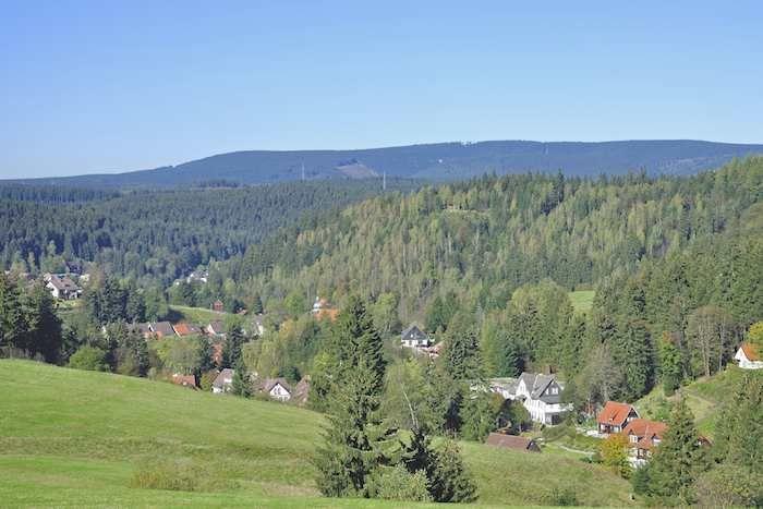 View over Altenau en route to Torfhaus