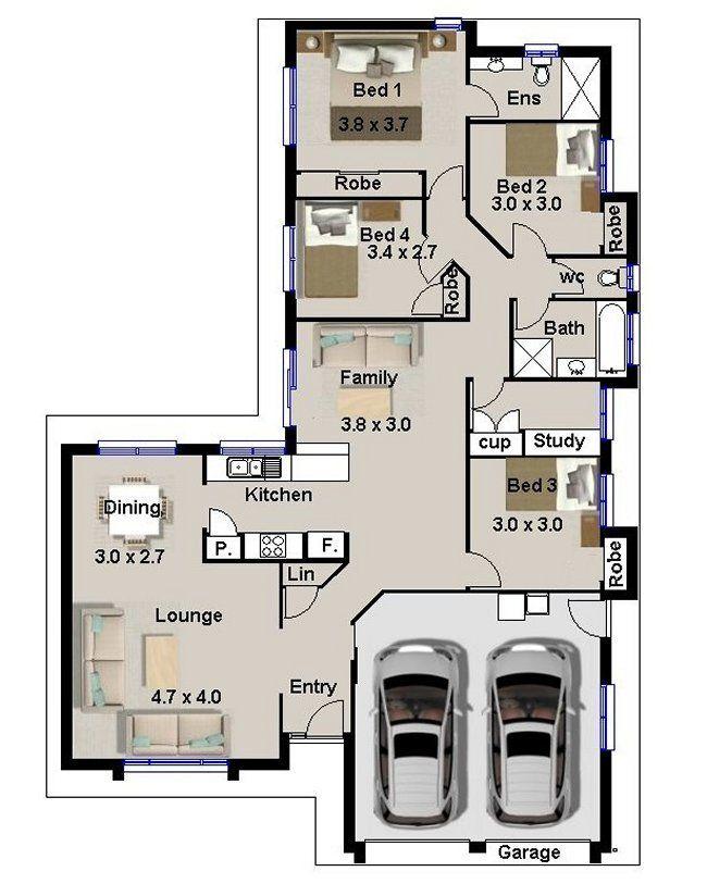 68 Best 2018- 4 Bedroom House Plans Images On Pinterest