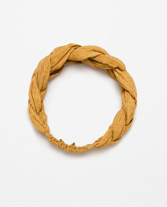 Image 1 of BRAIDED COTTON TURBAN HAIRBAND from Zara