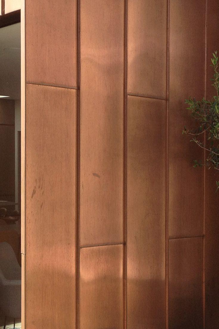 Standing Seams Bronze Metal Details In 2019 Cladding