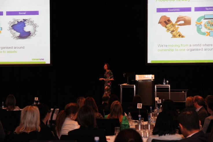 Karen Lawson, CEO , CareerOne Opens the Conference, and talks about the importance of New Wave Thinking.